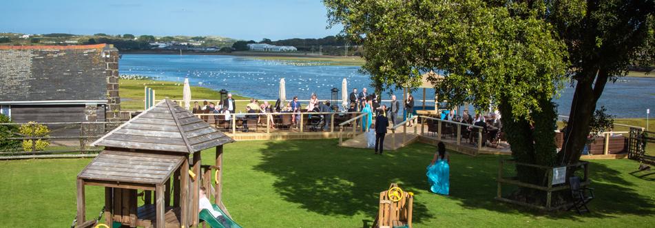 Outdoor ceremony venue by the sea
