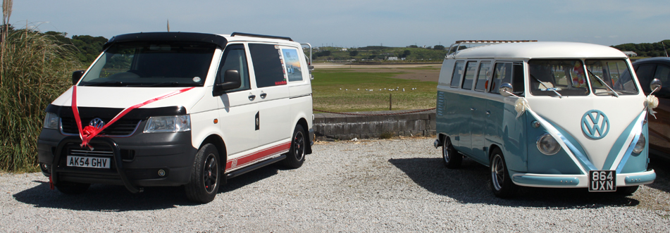 VW Wedding Vans on the Estuary